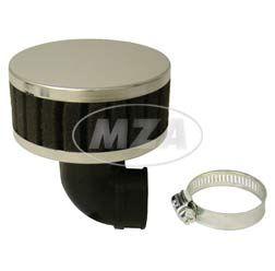Luftfilter - Tuning - schwarz - 90° abgewinkelt