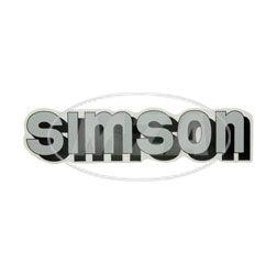 Klebefolie Simson-Tank, silber/schwarz