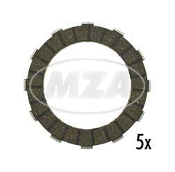 SET Kupplungsscheiben A12 / Reibbelag - RESO - neue, verstärkte Version - (5-er Pack)