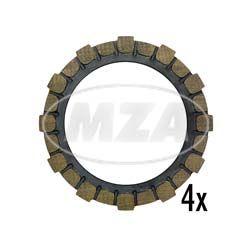 4x Kupplungsreibbelag (Kupplungsscheibe A12) Simson