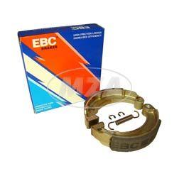 Bremsbacke SET EBC - MARKENQUALITÄT (Blackstuff) (KIT incl. Bremsbackenfeder + Sicherungsclips, mit Stahlauflage) Simson