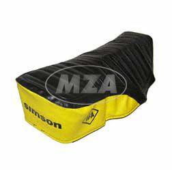 Sitzbezug, SIMSON schwarz/gelb, strukturiert, wasserdicht S51E