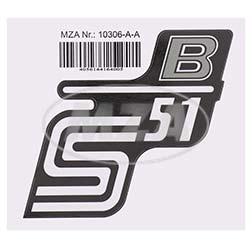 Klebefolie Seitendeckel -B-, silber, S51