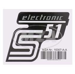 Klebefolie Seitendeckel - electronic - silber, S51