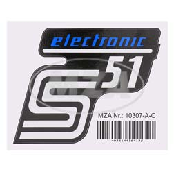 Klebefolie Seitendeckel - electronic - blau, S51