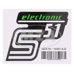 Klebefolie Seitendeckel - electronic - grün, S51