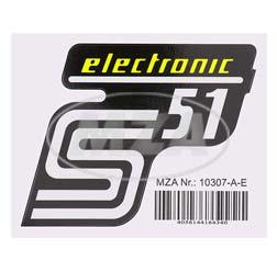 Klebefolie Seitendeckel - electronic - gelb, S51
