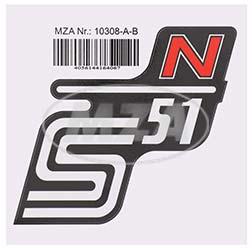 Klebefolie Seitendeckel -N- rot, S51