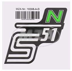 Klebefolie Seitendeckel -N- grün, S51