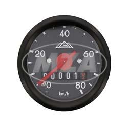 Tachometer mit Beleuchtung - ø 48 mm - S50 - (neue Produktion / ORIGINAL MMB) (60 Km/h)