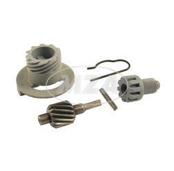 SET Tachoantrieb kpl. 5-teilig (Schraubenrad Z=14 für Antriebskettenrad Z=15) - Motor M531 - M742