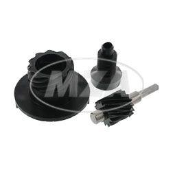 SET Tachoantrieb kpl. - 3-teilig - Schraubenrad Z=14 für Antriebskettenrad Z=15 - für Motor M531 - M742