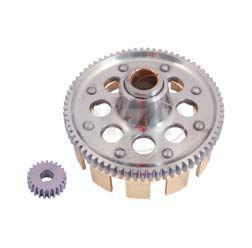 RESO Kupplungszahnrad + Antriebsritzel SET- Sport - 71/23 Zähne - geradeverzahnt, erleichtert, verstärkt, zusätzliche Schmiernut - für leistungsstarke Simson-Motoren - M531 - M743