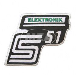 "Klebefolie Seitendeckel ""Elektronik"", grün, S51"