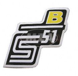 """Klebefolie Seitendeckel """"B"""", gelb, S51"""