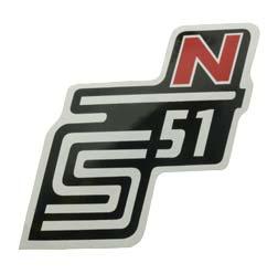 """Klebefolie Seitendeckel """"N"""", rot, S51"""