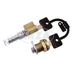 Schlosssatz BAB - S51, S70 - ein Schließsystem mit 2 Schlüsseln - Lenkersperrschloß und Feder + Seitendeckelschloß