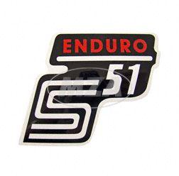 """Klebefolie Seitendeckel """"Enduro"""", rot, S51"""