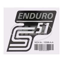 Klebefolie Seitendeckel -Enduro- silber, S51