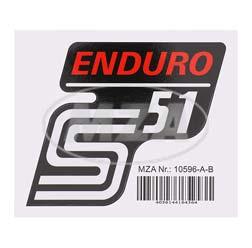 Klebefolie Seitendeckel -Enduro- rot, S51
