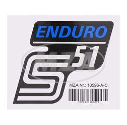Klebefolie Seitendeckel -Enduro- blau, S51