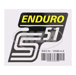 Klebefolie Seitendeckel -Enduro- gelb, S51