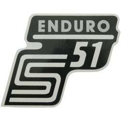 """Klebefolie Seitendeckel """"Enduro"""", silber, S51"""