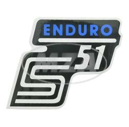 """Klebefolie Seitendeckel """"Enduro"""", blau, S51"""