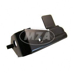 Trittbretthalter, rechts, schwarz tauchlackiert, mit Aufhängung f. langen Schalldämpfer - SR50, SR80