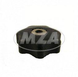 Sterngriffmutter M6 - schwarz - f. Motorabdeckung u. Haube  - ohne Druckscheibe (Bstnr.  10447)