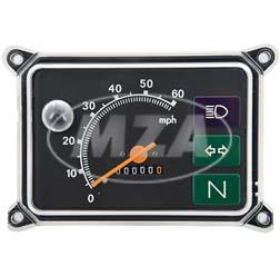 Gerätekombination mit 12V-Beleuchtung, Skale schwarz - Meilenanzeige - SR50, SR80