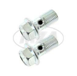 Paar Hohlschrauben zur Bremsleitung - verzinkt - M10x1, Länge 19 mm, SW12