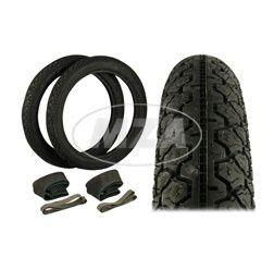 SET Reifen - 2 Stück 2 3/4-16 - Profil K36/1 46J - inkl. 2x VEE Rubber-Schläuche und 2x MZA-Felgenbänder