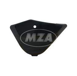 Seitendeckel links - ABS schwarz - ohne Schlossgehäuse (Gehäusemittelteil Batterieseite) - S53, S83