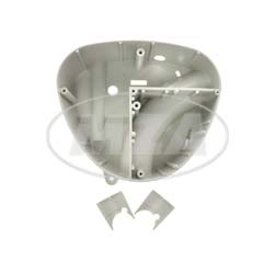 Gehäusemittelteil - Weiß-Grau - mit 2x Lochabdeckungen