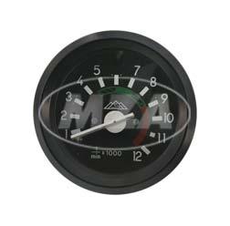 Drehzahlmesser bis 12000U/min - ø 60mm mit schwarzen Ring, Beleuchtung und Kontrollleuchte blau - Leuchtmittel 12V - S51, S70