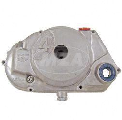 """Kupplungsdeckel SIMSON  """"4"""" natur (DZM-Antrieb)  - vormontiert (DZM-Antrieb und Schraubenritzel, Verschlussschrauben, Wellendichtringe) Achtung! nur Antriebritzel Bstnr. 11442 bzw. 11443 verwenden"""