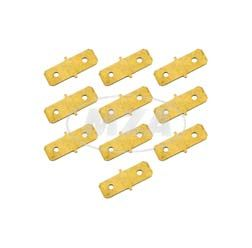 SET double flat blade connector - uninsulated - for cable lug 6,3mm, IDno: 149.141.1