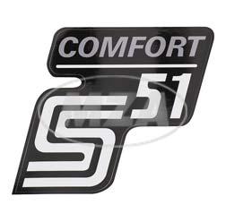 Klebefolie Seitendeckel -Comfort-, silber, S51