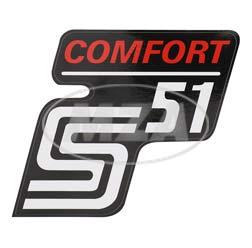 Klebefolie Seitendeckel -Comfort-, rot, S51