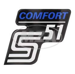 Klebefolie Seitendeckel -Comfort-, blau, S51
