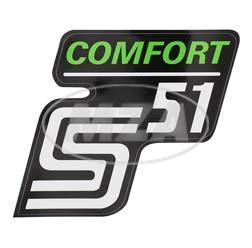Klebefolie Seitendeckel -Comfort-, grün, S51