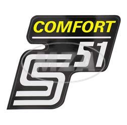 Klebefolie Seitendeckel -Comfort-, gelb, S51