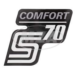 Klebefolie Seitendeckel -Comfort-, silber, S70