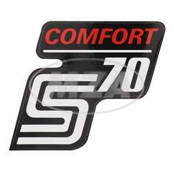 Klebefolie Seitendeckel -Comfort-, rot, S70