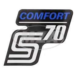 Klebefolie Seitendeckel -Comfort-, blau, S70