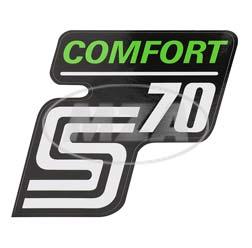 Klebefolie Seitendeckel -Comfort-, grün, S70