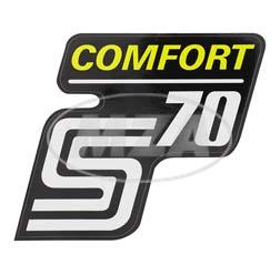 Klebefolie Seitendeckel -Comfort-, gelb, S70