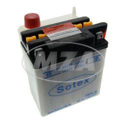 SOTEX-Batterie - YB3L-B - 12V, 3Ah - inkl. Batteriesäure - z.B. für KR51, Umrüstsatz 12V-VAPE