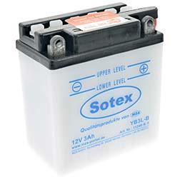 SOTEX-Batterie ohne Säure 12V 3,0 Ah - YB3L-B - z.B. für KR51, Umrüstsatz VAPE